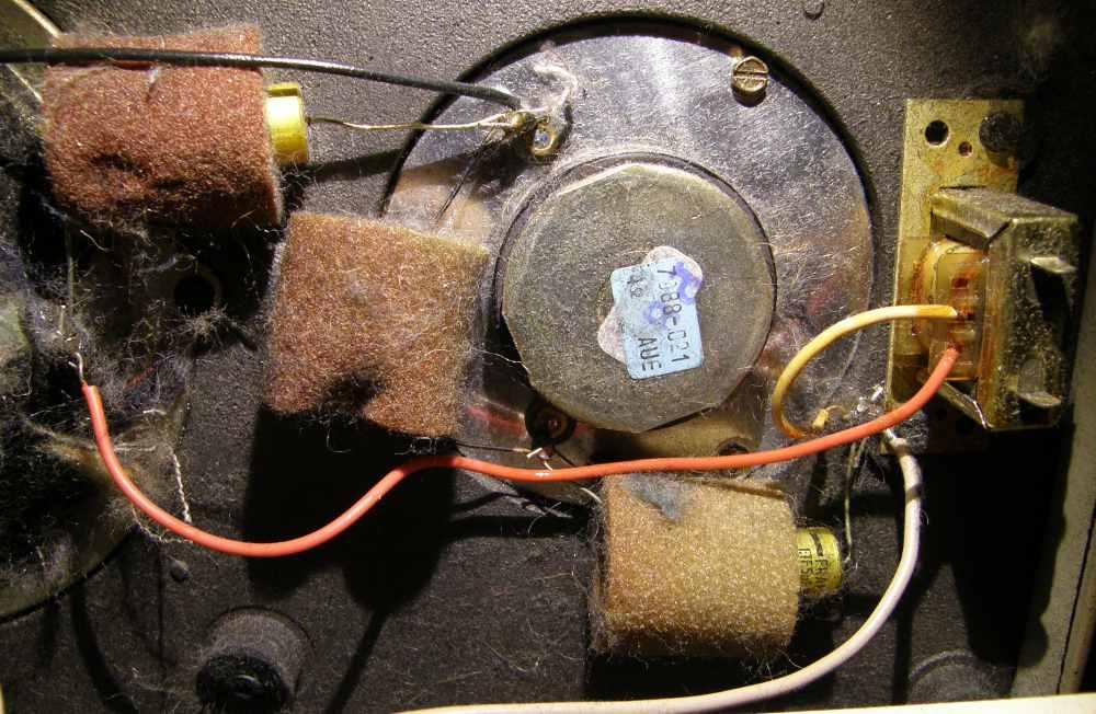 Grundig Box 203M - anti vibrazioni e condensatori Frako